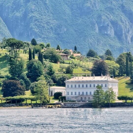 Villa Melzi and its garden on Lake Como