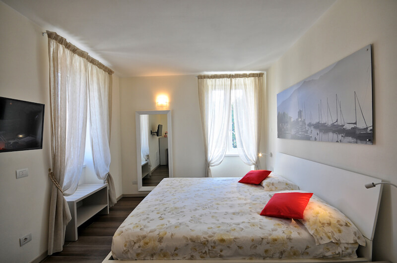 modern holiday apartment with double room
