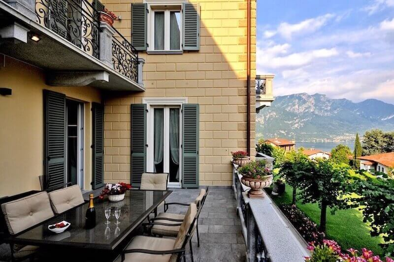 Terrace of holiday apartment in Bellagio