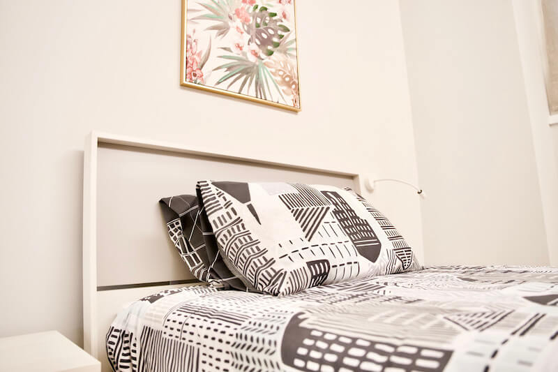 holiday apartment single bed