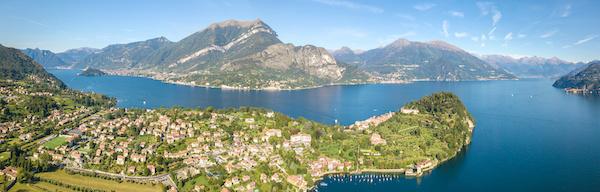 Aereal picture of Bellagio Lake Como
