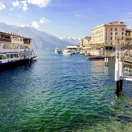Bellagio ferry and hotels
